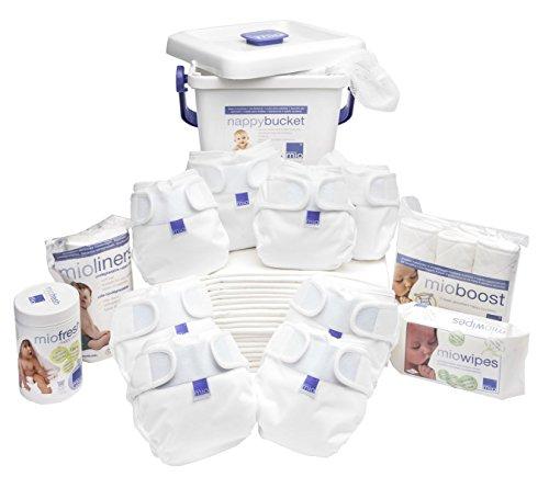 Bambino Mio, Miosoft Cloth Diaper Premium Birth to Potty Pack, White by Bambino Mio
