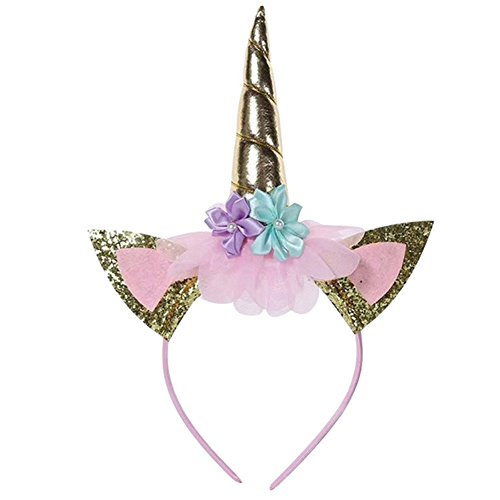 LZH Girl Unicorn Party Dress Flower Fancy Cosplay