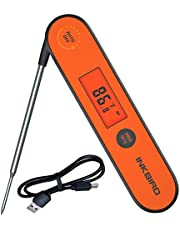 Inkbird Waterproof Instant Read Thermometer IHT-1P, Rechargeable Battery, Digital BBQ Meat Thermometer, Cooking Food Thermometer, Calibration, Magnet, Backlight for Grill,Smoker, Kitchen, Oven,