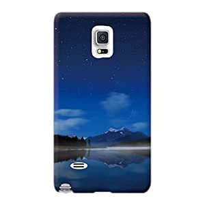 Protective Hard Phone Covers For Samsung Galaxy Note 4 (oTm613UyUf) Custom High-definition Mountains Stars Skyscapes Series