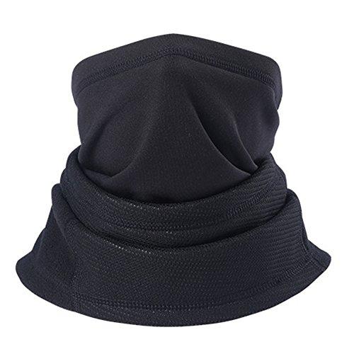 Magarrow Unisex Neck Warmer Winter Windproof Mouth Face Mask Outdoor Sports Neck Warmer (Black)