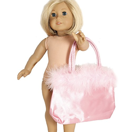 Large Pink Satin Doll Bag for 18 Inch Dolls Like American Girl