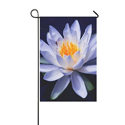 - Home Decorative Outdoor Double Sided Nature Flower Water Lily Bloom White Garden Garden Flag,house Yard Flag,garden Yard Decorations,seasonal Welcome Outdoor Flag 12 X 18 Inch Spring Summer Gift
