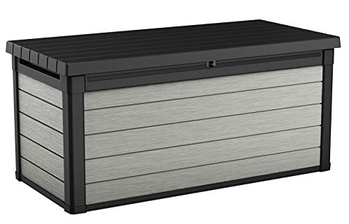 Deck Boxes Keter Denali 150 Gallon Resin Large Deck Box-Organization and Storage for Patio Furniture, Outdoor Cushions, Garden… outdoor deck boxes