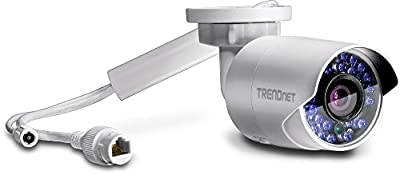 TRENDnet Indoor/Outdoor 1.3 MP HD WiFi IP Bullet Camera, Night Vision Up to 100 ft., MicroSD, DWDR, Android iOS App, ONVIF, TV-IP322WI from TRENDnet