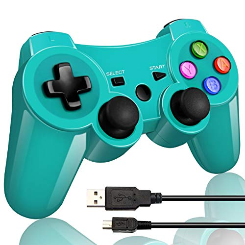 Double Vibrating Wireless Controller PS3 Charge Cable (Bright Green)