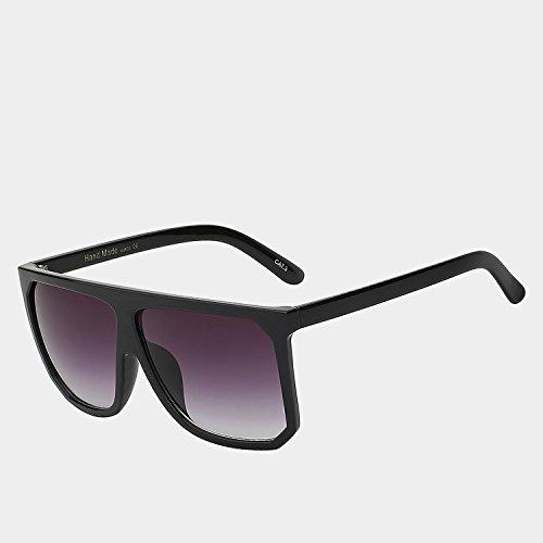 cuadrados claro Gafas bastidor UV400 de de sol plana Las w TIANLIANG04 negro unas gafas Vintage gafas grande smoke hembra Style Gafas parte de con de sol W Black superior enormes mujeres pPEaqxqnwS