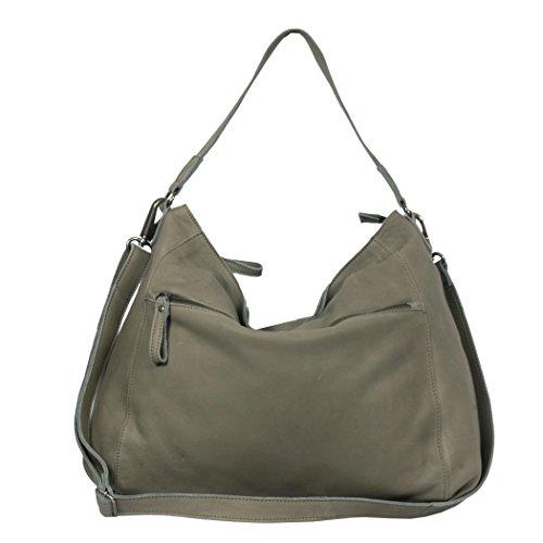 VILENCA HOLLAND Shopper Leder / Damenhandtasche / Schultertasche Ledertasche 40795 olive (Olive)