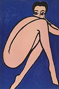 BEAUTIFUL ART MODEL NUDE WOMAN POSE LARGE VINTAGE POSTER ON CANVAS REPRO!!!!!