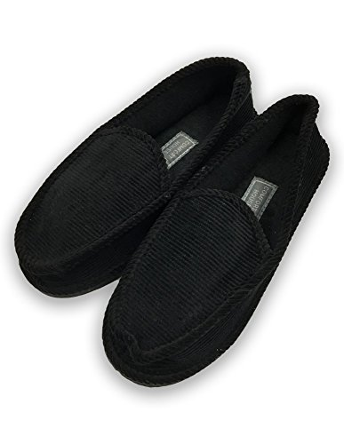 House Slippers Shoes Corduroy Casual Comfort Men's amp;B Black Cushion Sports C HqROn0x