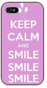 iPhone 5 / 5s Keep Calm and smile - black plastic case / Keep Calm, Motivation and Inspiration