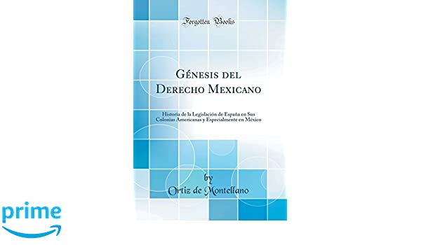 Génesis del Derecho Mexicano: Historia de la Legislación de España en Sus Colonias Americanas y Especialmente en México (Classic Reprint) (Spanish Edition): ...