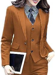 JYDress Women's 3 Piece Elegant Formal Business Lady Office Suit Set Work
