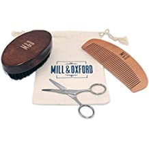 Beard Brush, Comb and Scissors – The Essentials a Men's Grooming Kit by Mill...