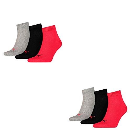 Sport 232 Red Pacco 6 Calzini Da Unisex Black Quarters q4n6wSYnxt