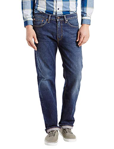 Levi's Men's 505 Regular Fit Jean, Hawker - Stretch, 42 32