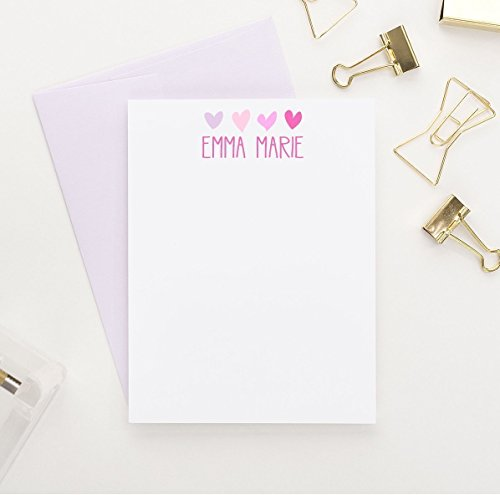 Personalized Stationery Kids (Personalized Stationery for Girls, Girls Personalized Stationery Set)