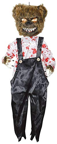 Sunstar Industries Evil Battery Operated Animated Bloody Bear Scary Light Up Halloween Prop -
