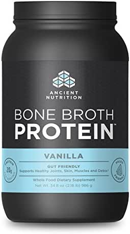 Ancient Nutrition Bone Broth Protein Powder, Vanilla Flavor, 40 Servings Size