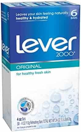 Lever 2000 Bar Soap, Original 4 oz, 6 Bar