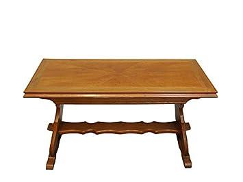Couchtisch Tisch Salontisch Wohnzimmertisch Eiche Antiker Stil L