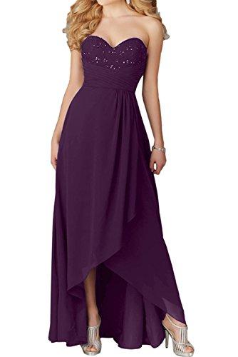 Chiffon Ballkleider Herzform Ivydressing Damen Promkleid Abendkleider Lang Festkleid Traube qpZpTwx47