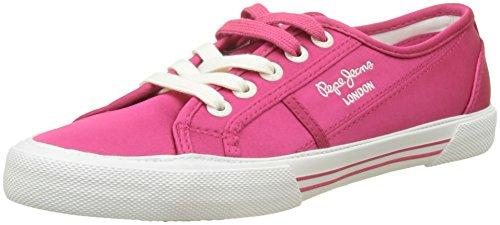 Pepe Jeans London Damen Aberlady Satin Sneaker Pink (Disco Pink)
