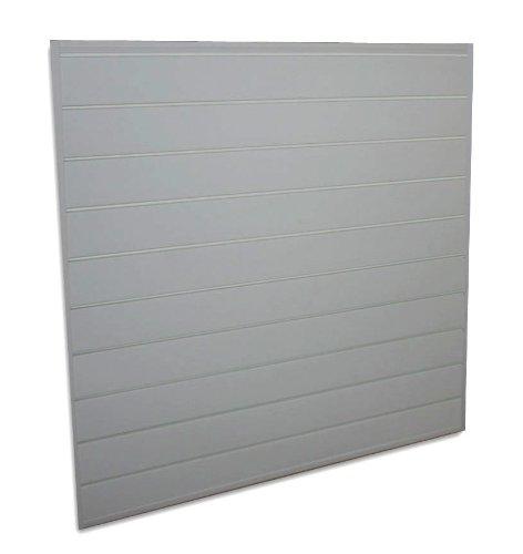 Proslat 88106 Heavy Duty PVC Slatwall Garage Organizer, 4-Feet by 4-Feet Section, Light Grey