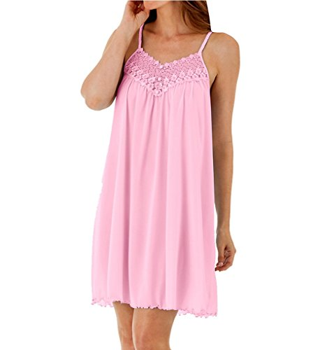 Shadowline Women's Plus Size Beloved 38 Inch Braided Spaghetti Strap Short Gown, Pink, 1X