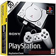Playstation Classic Console with 20 Classic Playstation Games Pre-Installed Holiday Bundle, Includes Final Fan