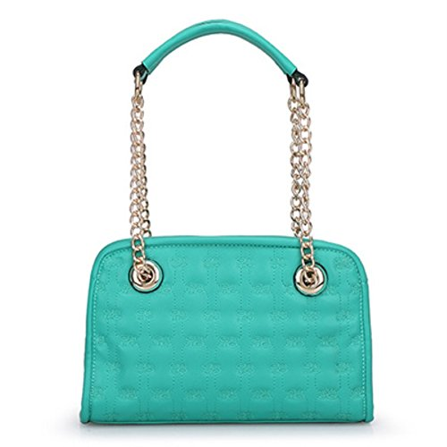 Hifish Hb125289c5 Pu Leather Korean Style Women's Handbag Square Cross-section Lingge Chain Bag