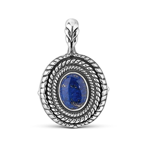 Sterling Silver Lapis Interchangeable Pendant Enhancer by American West