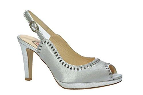 Melluso Decolte' scarpe donna argento E1442