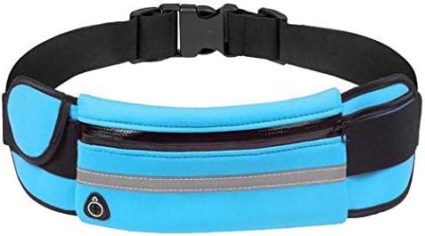 Eroihe Bolsa de Cintura Mujer Hombre Bolsa de Cintura para Tel/éfono Antirrobo Impermeable para Correr al Aire Libre con Auriculares Agujero