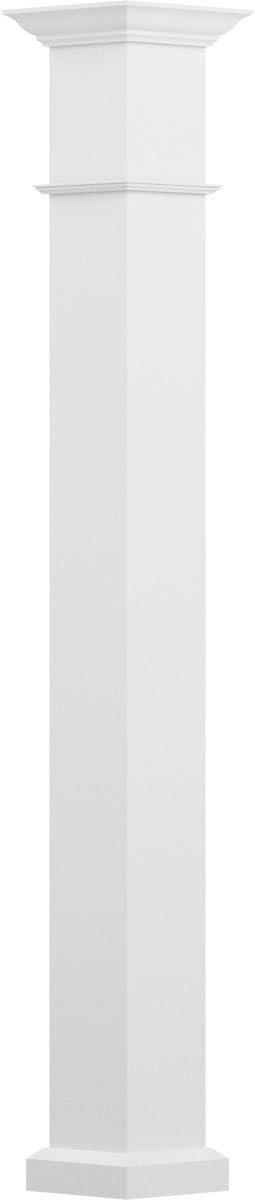 AFCO EA0808ENPSEWEWE 8 x 8 Endura-Aluminum Wellington Style Column Gloss White Finish w// Capital /& Base Load-Bearing 20,000 lbs Square Shaft Non-Tapered