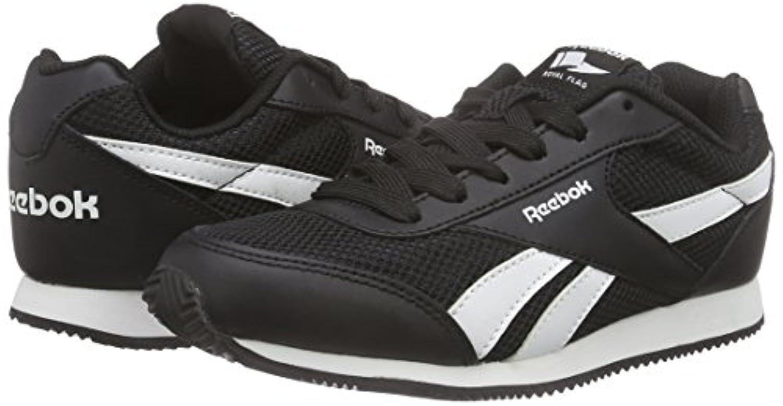 Reebok Unisex Kids' Royal Classic Jogger Running Shoes, Black (Black/White), 1 Child UK