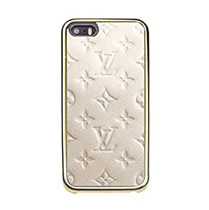 Classic Image Luxury Louis Diy Vuitton Mobile Case TPU Golden Border Series for Iphone 5/5s