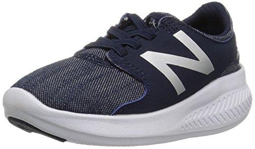 New Balance Boys' Coast v3 Hook and Loop Running Shoe, Pigment/Metallic, 3 W US Infant ()