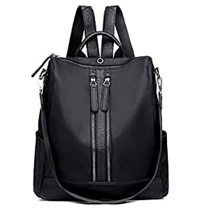 Pure color dual zippers Fashion bag