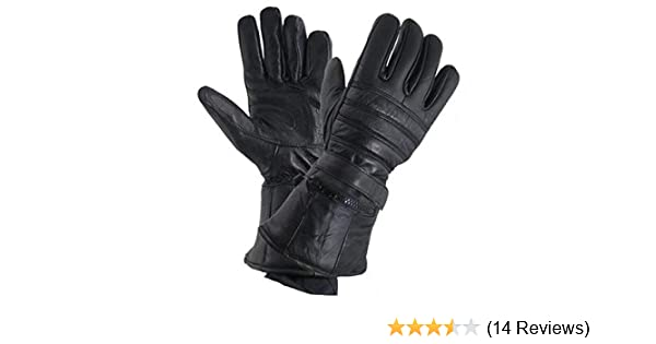 08028718c13f9 Amazon.com: Xelement XG1227 'Gauntlet' Men's Black Leather Gloves with Rain  Cover and Long Cuff - X-Large: Automotive