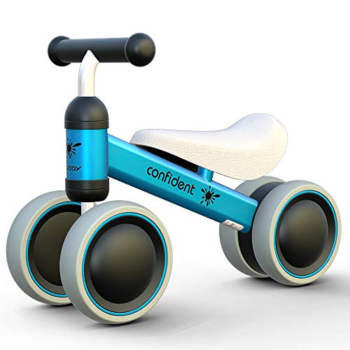 GiftToysfor1YearOld Boy, Girl, RideonBalanceBike, Baby 1st Birthday, Unique First Bday, Best, Good, Cool, Push and Pull, Greatest, Coolest, -2, not Wooden, Blue