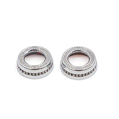 uxcell 2Pcs Silver Tone Faux Diamond Car Air Condition Button Decoration for Jaguar by uxcell