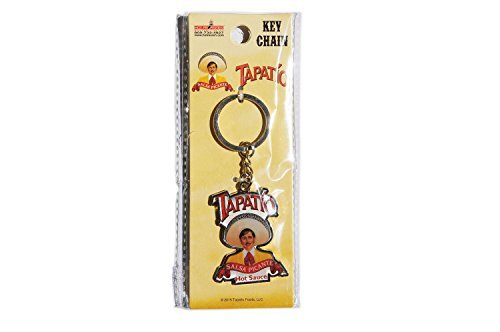 (Tapatio, SALSA PICANTE, Officially Licensed Tapatio Hot Sauce Brand, Metal KEYCHAIN)