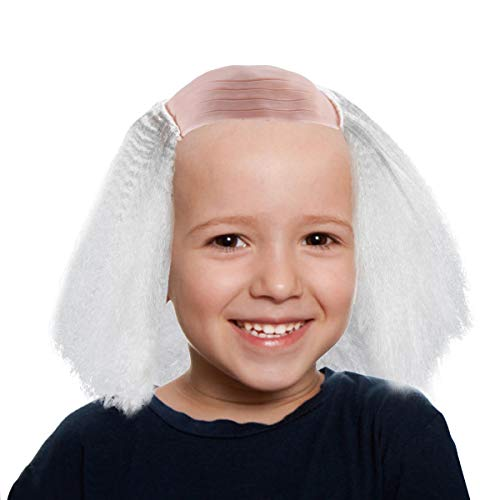LAUREN Balding Wig for Men, Halloween Costume Old Man Bald Wigs White