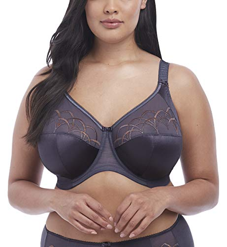 Elomi Women's Plus Size Cate Full Cup Banded Bra, anthracite, 42GG