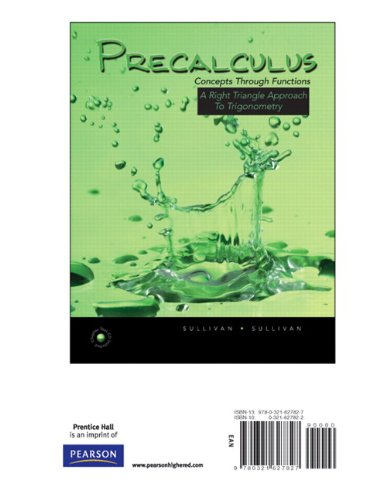 Precalculus: Concepts through Functions, A Right Triangle Approach to Trigonometry, Books a la Carte Edition