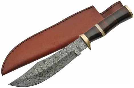 SZCO Supplies Rock Mountain Damascus Knife