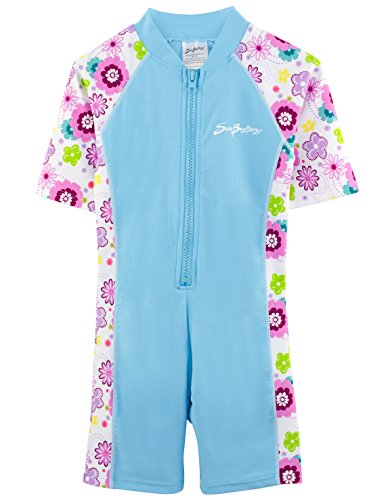 - SunBusters Girls S/S Sunsuit(UPF 50+), Mallowberry, 6/7 yrs