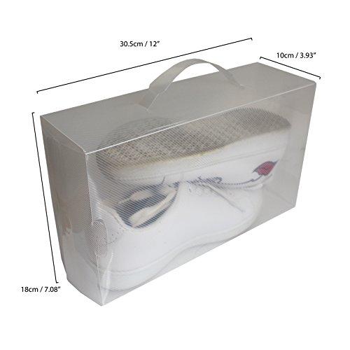 Kurtzy 20 En Pour Transparent De Aux Peti Boîtes Chaussures Imperméables Lot À Rangements Les Grandes Par Empilables Plastique Pliables Grandes Convient Démontables 5f0zwqXaa