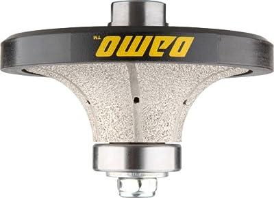 DAMO B30 1-1/4 inch Demi Bullnose Half Bullnose Roundover Diamond Hand Profiler Router Bit Profile Wheel with 5/8-11 Thread for Granite Concrete Marble Countertop Edge